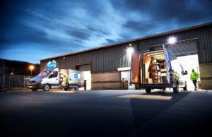 work vans with interior lumo lighting using the lumo beam